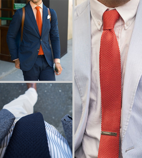 Knit Tie Collage